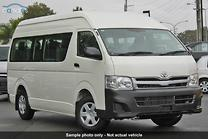 2013 TOYOTA HIACE TRH223R MY12 COMMUTER HIGH ROOF SUPER LWB