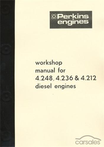 perkins 4 248  4 236  4 212 engine workshop manual