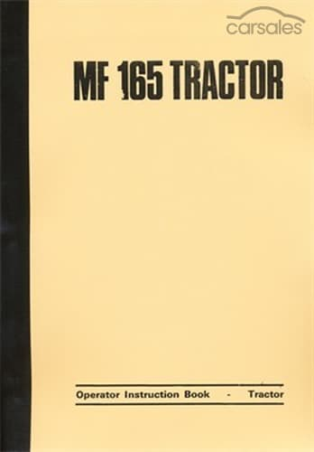 massey ferguson 165 tractor operator manual quicksales massey ferguson 165 owners manual massey ferguson 165 owners manual pdf