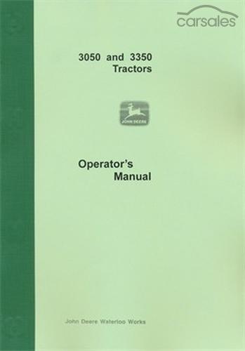john deere 3050 and 3350 tractor operators manual quicksales com rh ninemsn quicksales com au John Deere Loader Manual John Deere 855 ManualDownload